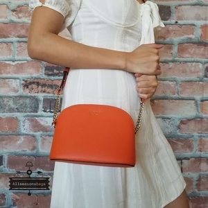 Kate spade SMALL dome Sylvia orange crossbody bag